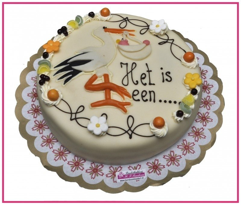 Geslachts taart  12  personen