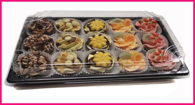 Hedendaags TV gebakjes 15 stuks | High Tea | borsboombestelonline FP-78