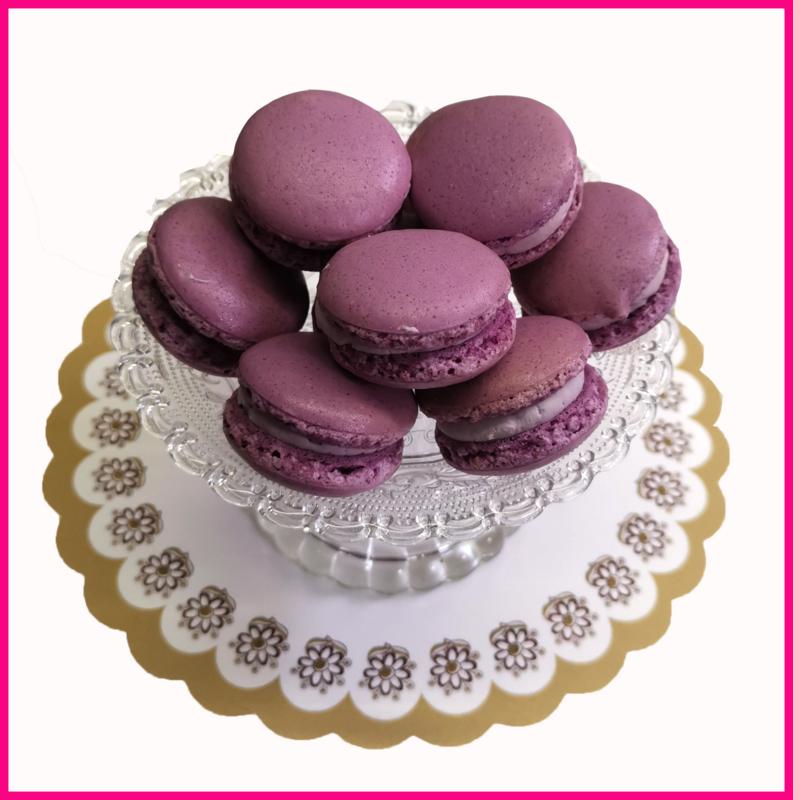Macaron paars (Lavendel) per stuk
