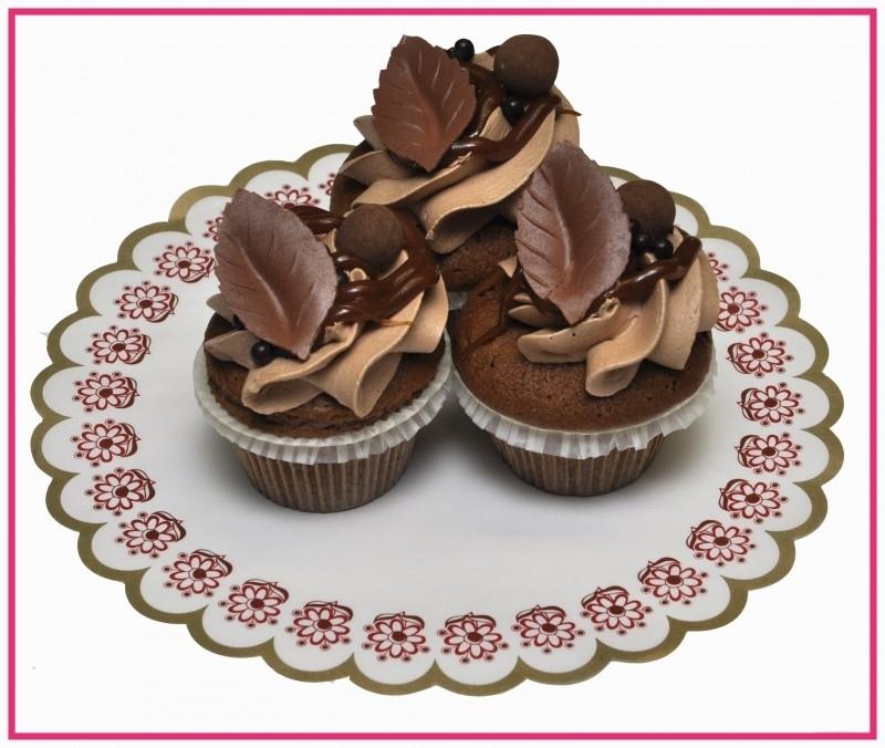 Cup cake Chocolade Caramel per stuk.