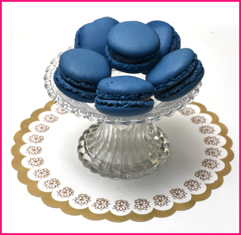Macarons bosbessen Blauw