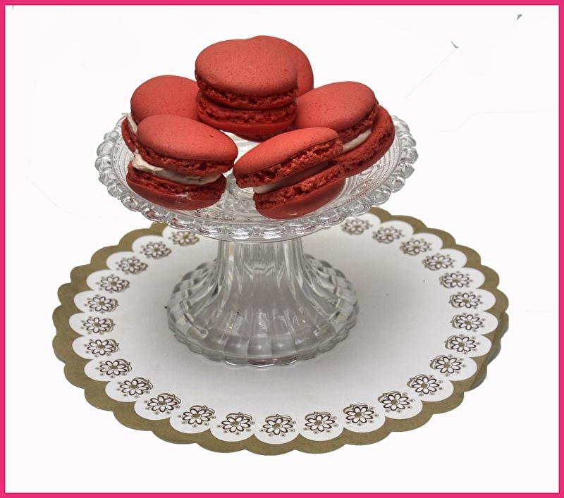 Macaron rood (Aardbei.) per stuk