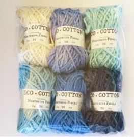 Eco cotton mini ball kit Cool Ocean