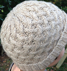 Cushy Cables Cashmere Cap for DK yarn