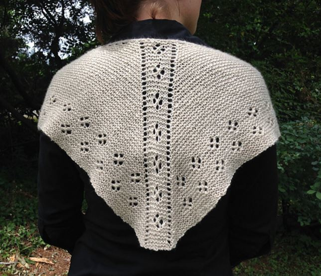 Mouse Print Shawlette for Sport Weight