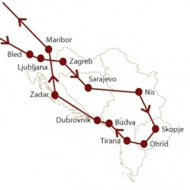 16 daagse Balkanrondreis  ( Pelikaan )