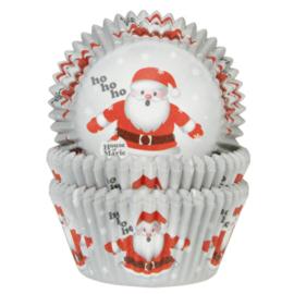HoM Cupcake vormpjes  Kerstman 50st