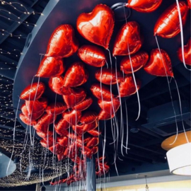 Folieballon Hart Rood 43cm