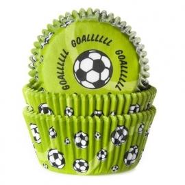 HoM Cupcake vormpjes Voetbal groen 50st