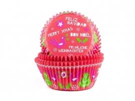 HoM Cupcake vormpjes Kerstmis 50st