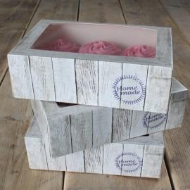 FunCakes Cupcake doosje Pure  met insert 24x16x8cm