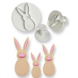 PME uitstekers Rabbit uitdruk set/3st