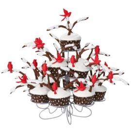 Wilton Cupcake vormpjes Bruin met witte stippen 75st