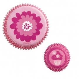 Wilton Mini Cupcake vormpjes Pink Party 100st