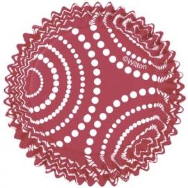 Wilton Cupcake vormpjes Dots Red 36st
