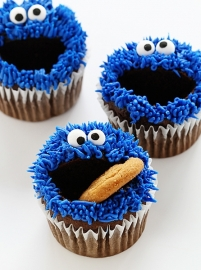 Cookiemonster cupcakes