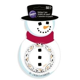 Wilton Cupcake vormpjes Merry & Sweet Snowman 50st