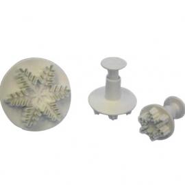 PME sneeuwvlok uitsteker snowflake plunger set/3st