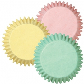 Wilton Mini Cupcake vormpjes pastel assortiment 100st