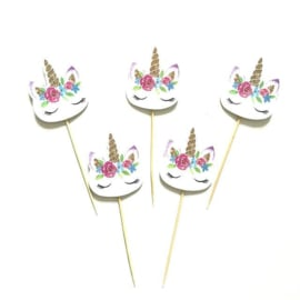 Unicorn Cupcake Decoratie Toppers 24st