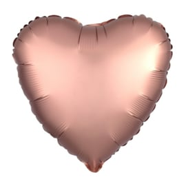 Folieballon Hart Rose Gold 43cm