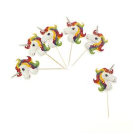 Unicorn Cupcake Decoratie Toppers 24st