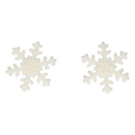 FunCakes Suikerdecoratie Sneeuwvlokken Wit Set/6