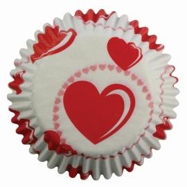 PME cupcake vormpjes Hartjes 60st