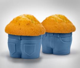 Cupcake Siliconen bakvorm Spijkerbroek