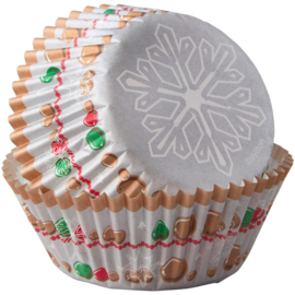 Wilton Baking Cups Snowflake Wishes 75st
