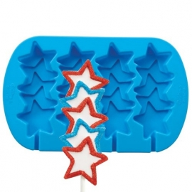 Wilton Siliconen bakvorm Stars Pops Mold