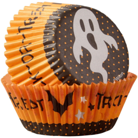 Wilton Cupcake vormpjes Trick or Treat Ghost 75st