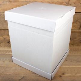 FunCakes Taartdoos blanco 52x52x70cm