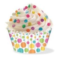 Wilton Cupcake vormpjes Citrus Dot 36st