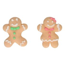 FunCakes Suikerdecoratie Gingerbread set/8st