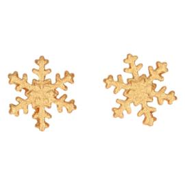 FunCakes Suikerdecoratie Sneeuwvlokken Goud Set/6