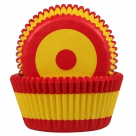 HoM Cupcake vormpjes Spaanse vlag 50st