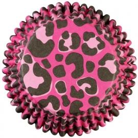 Wilton Cupcake vormpjes Chevron Pink Leopard 36st