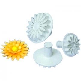 PME uitstekers zonnebloem, margriet, gerbera uitdruk set/3st
