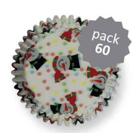 PME cupcake vormpjes Smiley Snowman 60st