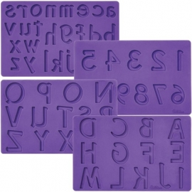 Wilton Siliconen Mold (Mal) cijfers en letters