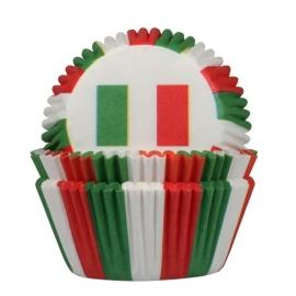 HoM Cupcake vormpjes Italiaanse vlag 50st