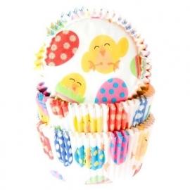 HoM Cupcake vormpjes Paaskuiken 50st