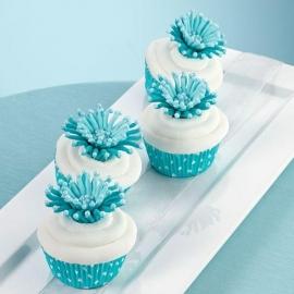 Wilton Cupcake vormpjes Blauw met witte stippen