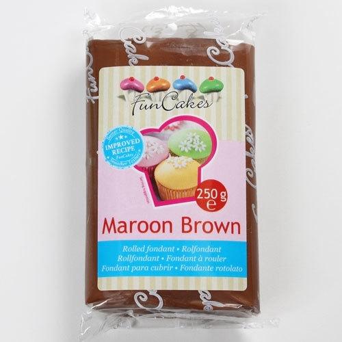 FunCakes Rolfondant Bruin - Maroon Brown