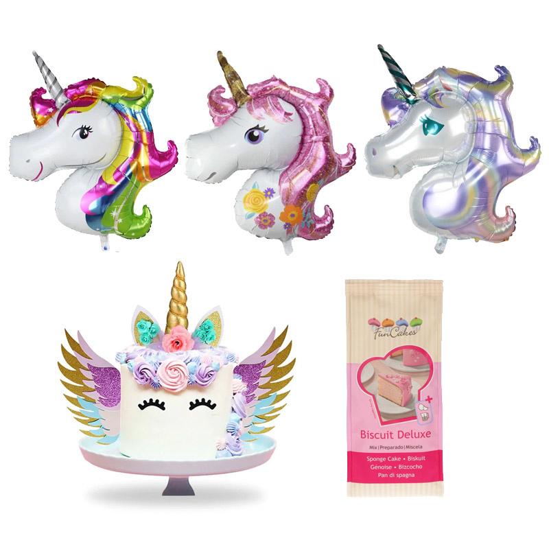Unicorn Taart Pakket Set - GRATIS BAKMIX