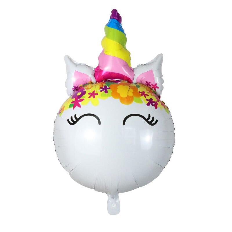 Ballon Unicorn Regenboog  80cm