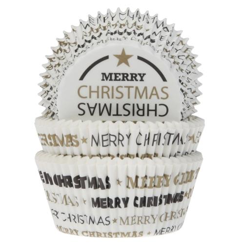 HoM Cupcake vormpjes Merry Christmas 50st