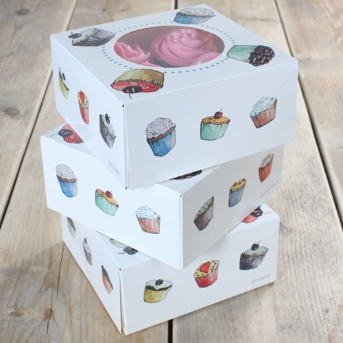 FunCakes Cupcake doosje 4 met insert 17x17x8cm