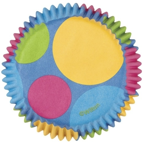 Wilton Cupcake vormpjes Retro Dots 75st
